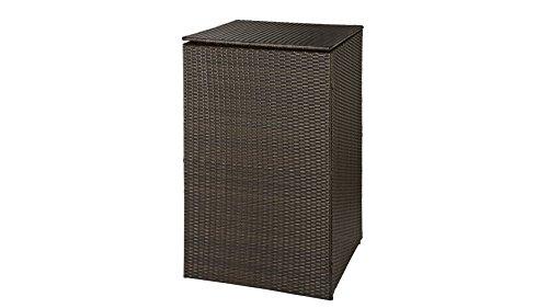 HANSE GARTENLAND Mülltonnenbox, für 1x120 l aus Polyrattan, B/T/H: 64/66/109 cm braun