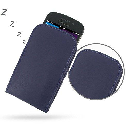 PDAir BlackBerry Q10 Handyhülle Tasche (Lila), Echtleder Handyhülle Tasche Schutz Cover Telefonkasten, Handarbeit Prämie Vertical Tasche Für BlackBerry Q10 (NO Gürtelclip) (Blackberry Otterbox Q10)
