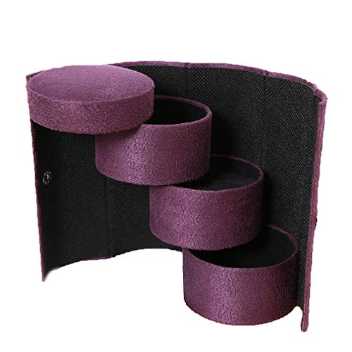 Longay Schmuckkästchen Aufbewahrungsbox für Ringe Ohrringe Halskette violett -