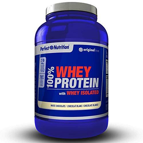 Molke-Isolat-Protein aus Lactoserum 100% hydrolysiert (908 g) erhöht das Muskelwachstum und die sportliche Leistungsfähigkeit. (Schokolade, weiß 908 g) ... -