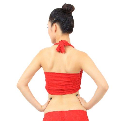 VENI MASEE exquisite Bauchtanz / Yoga Spitze Bauchband, Bauchtanz Kostüm, Preis / Stück Rot