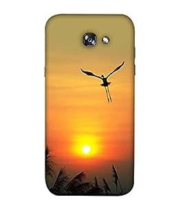 PrintVisa Designer Back Case Cover for Samsung A3 (2017) (Sun With He Bird Flying)