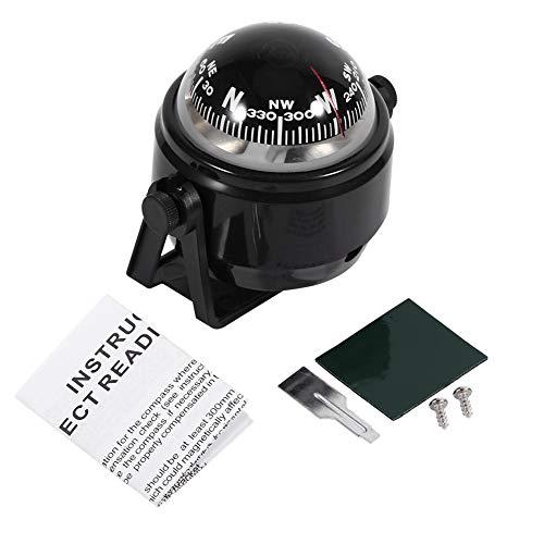 VGEBY1 Kompass Boot, Einstellbare Navigation Nachtsicht Kugelkompass Bootskompass mit Halterung für Boot Auto Motorrad LKW(Schwarz) -