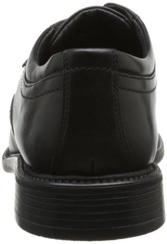 Clarks Fawley Lo Gtx, Chaussures de ville homme Noir (Black Leather)