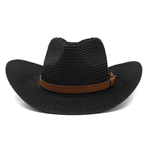 Hut Sonnenschutzhut Damen Herren Western Stroh Cowboy Hut Strohhut Zylinderhut Outdoor Str
