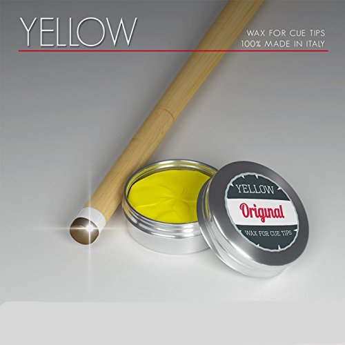 Original Billard Tip/Leder Politur Wachs, yellow