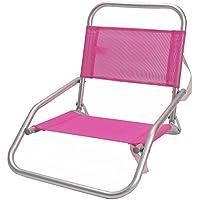 Silla de playa plegable de aluminio rosa Garden - Lola Home