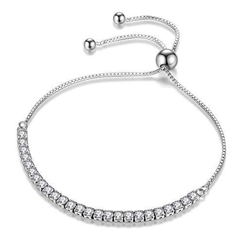 JDGEMSTONE Weihnachten Geschenk Verstellbares Armband, Swarovski-Kristalle, Schmuck für Frauen, 925er-Sterlingsilber GEMDRUZY