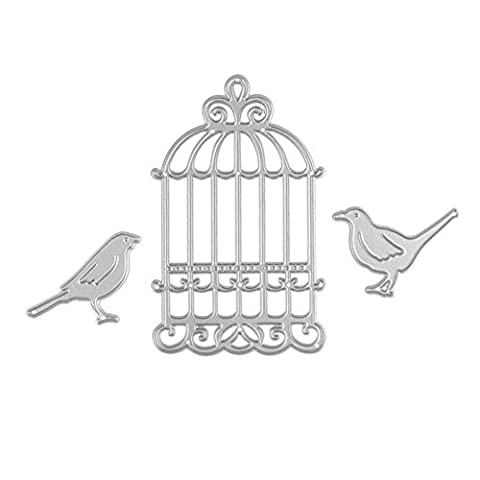 Enipate cages à oiseaux en métal de coupe matrices pour album de scrapbooking Invitation Décoration gaufrage Pochoirs Cut matrices
