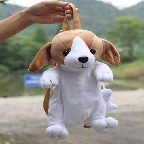 OOGUOSHENG Candice Guo Plüschtier Gefüllte Puppe Cartoon Hund Chihuahua Schnauzer Labrador Rucksack Baby Umhängetasche Weihnachtsgeschenk Geschenk, Stil 5 - Fünf Für Alt Puppen Jahr