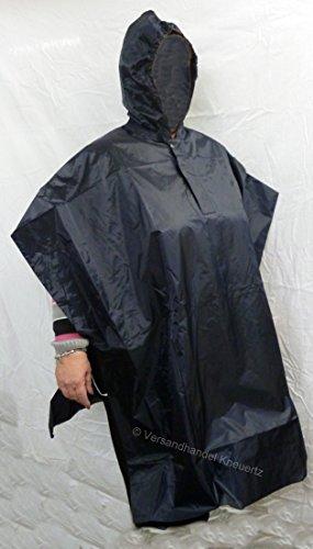 BikeTec Regenponcho dunkel blau seitlich offen Regencape Regenpelerine