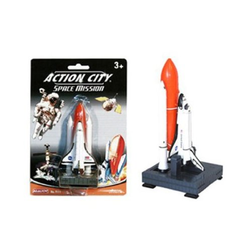 action-city-space-shuttle-mission-with-launcher-metal-diecast-with-plastic-parts-nasa