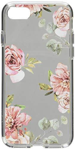 Spigen iPhone 8/7 Hülle, [Liquid Crystal Aquarelle] iPhone 8 Hülle, Blumenmuster [Rose] TPU Silikon Handyhülle Transparent Schutzhülle für Apple iPhone 7 Hülle, iPhone 8 Case - Rose (054CS22619)