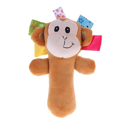 Demiawaking Cute Pudding Monkey Pattern Sound Bite-Resistant Chewing Plush Pet Dog Toy 41ROANEmBHL