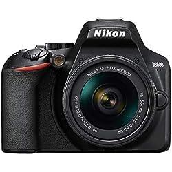 Nikon D3500 Appareil Photo Reflex 24 MP (Full HD, ISO 100-25600, système autofocus, Mode Guide, LCD, SnapBridge) - Kit avec Objectif AF-P 18/55VR, étui et Livre - Version Nikonistas
