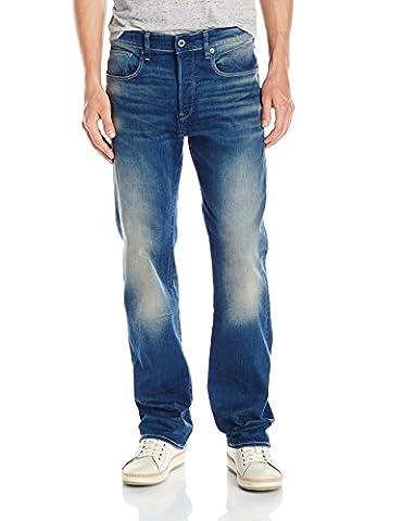 G-Star Herren 3301 Jeans, Blau (Medium Aged), 34/34