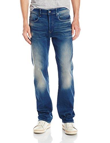 G-Star Herren 3301 Jeans, Blau (Medium Aged), 38/32 (Loose Leg Straight Jean)