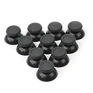 10 x Joystick Chapeaux Bouchons Bâton Boutons Pouce Contrôleur Jeu Noir pour PS4