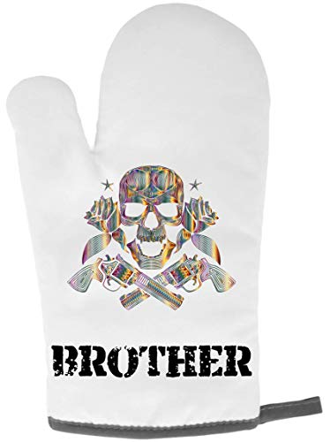Luxury Gifts Ofenhandschuh, Motiv Brother Skull n Cross Guns