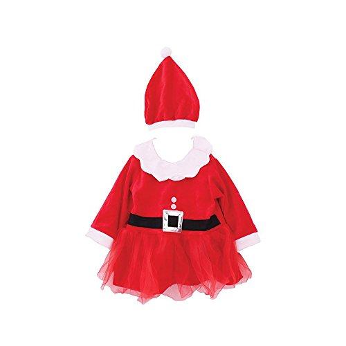 Mädchen Festliche Kinder Weihnachten Frau Santa Kleid - Alter 1-3 Jah - Red - 23 (Snowboarder Kostüm)