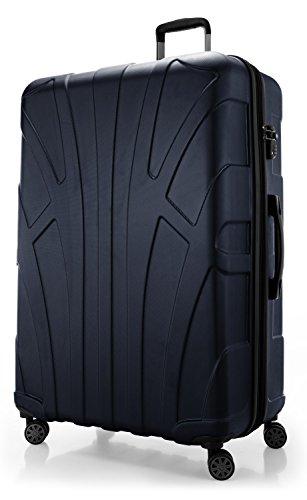 SUITLINE Extra-großer Reisekoffer Hartschalen-Koffer Trolley Rollkoffer, TSA Hand Luggage, 78 cm, 160 liters, Dunkelblau