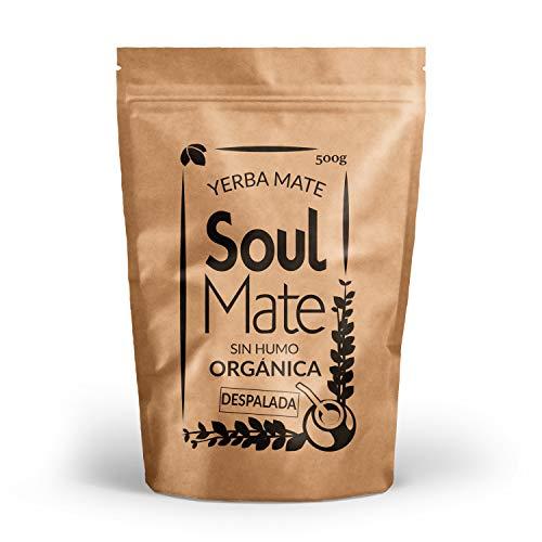 Mate Tee Soul Mate Rauchfrei Despalada Bio 500g | 100% Bio Yerba Mate Tee | Hochwertig | Ohne Stängel | Yerba Mate Stark stimulierend natürlich und glutenfrei -