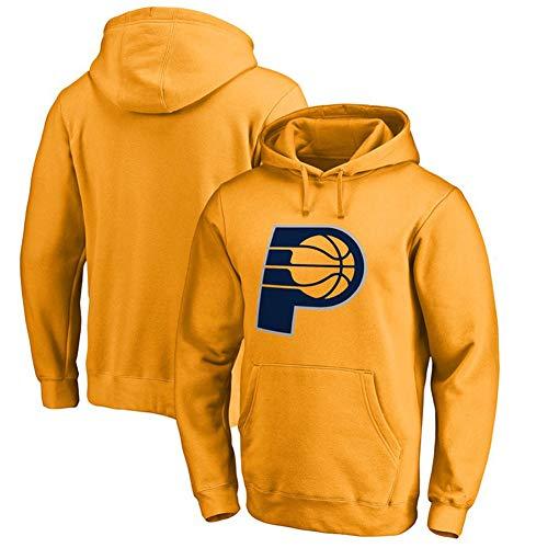 Indiana Pacers Basketball Langarmtrikot Hoodie Trainingsanzug Männer Jungen Casual Print Pullover Sportswear Top Gelb S-3XLBetreten Sie den Laden mehr-Yellow-XL