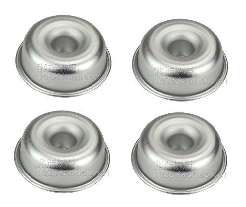 Astra Shop Mini-Angel Food Cake Pans, Set von 4(Boo, 7,6x 2,5cm) H00 silber (Fox Kuchen Pan)
