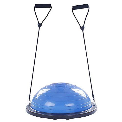 FlowerW Halbkugel Dome Ball 60cm Balance Trainer Balance Hellblau Ball Balance Trainer mit Seitengurten und Ballpumpe Semisphere Balance (60cm)