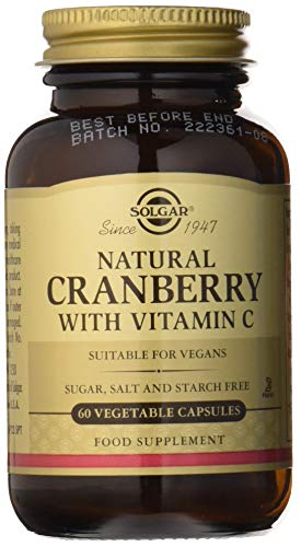 Solgar® Arándano Rojo con Vitamina C, 60 Cápsulas Vegetales - Concentrado de arándano rojo con vitamina C. Apto para veganos