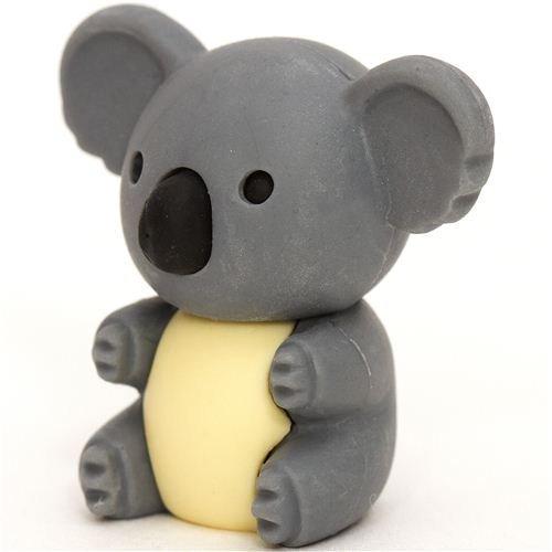 grauer Koala Bär Radiergummi von Iwako aus Japan