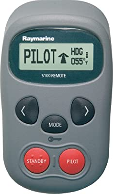 Raymarine S100 - Mando a distancia inalámbrico para piloto automático, color gris
