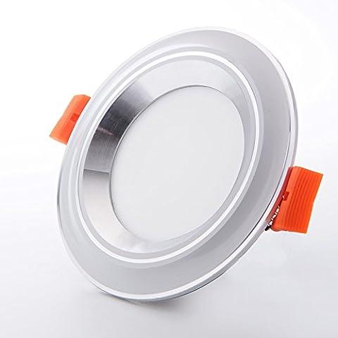 Led downlight spotlight lamp 5W living room ceiling lamp thick aluminum lamp,White Light(Open Hole6.5-8CM),Classic-white + Silver Stars