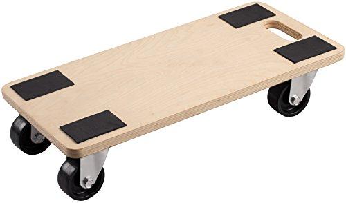 Metafranc Transportroller 590 x 290 mm - 500 kg Tragkraft - Sperrholz - PP-Räder / Möbelroller / Transporthilfe für Umzug / Rollwagen für Möbel-Transport / Kistenroller aus Holz / 822120 -
