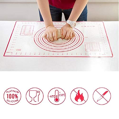 KHKJ 60 * 40CM Non-Stick Silicone Baking Mat Pad Baking Sheet Glass Fiber Rolling Dough Mat Cookie Macaron Baking Mat Pastry Tools 15 - Non-stick Baking Liner