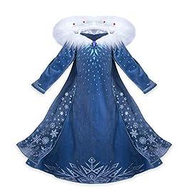 Princess Vestito Carnevale Bambina Abito Costume Bimbi Deluxe Elsa 131