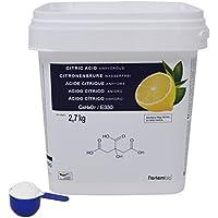 NortemBio Ácido Cítrico 2,7 kg, La Mejor Calidad Alimentaria Producto CE.