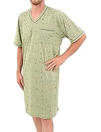 Herrennachthemd manches courtes 100%  coton, taille m l xL xXL xXXL