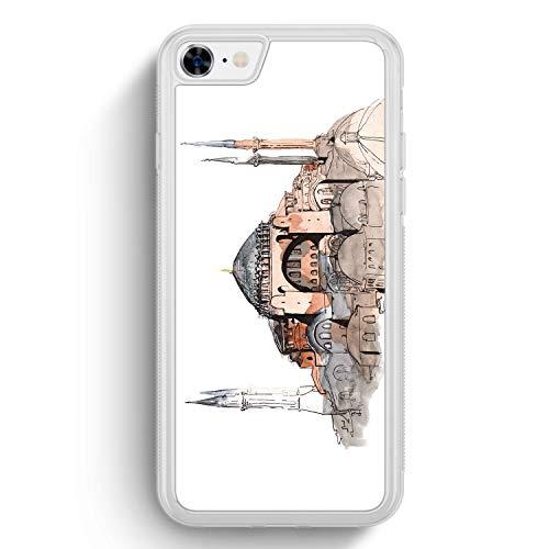 Hagia Sophia Ayasofya Istanbul Türkei - Frosted Silikon Hülle für iPhone 7 - Motiv Design Türkiye Cami Islam - Cover Handyhülle Schutzhülle Case Schale
