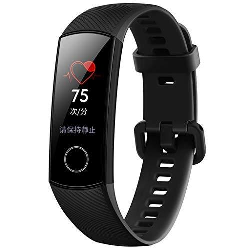 Happy-day Damen Fitness Tracker Farbdisplay Activity Tracker Kalorienzähler Schlafüberwachung Sport Smartwatch für Mann S Schwarz