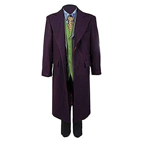 Cosdaddy / Die Dark Knight Rises Batman Joker Voll Outfit Kostüm (Dark Knight Joker Kostüm The)