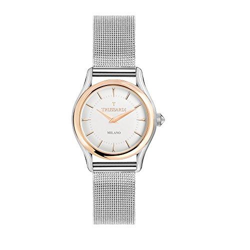 TRUSSARDI Reloj Analógico para Mujer de Cuarzo con Correa en Acero Inoxidable R2453127503