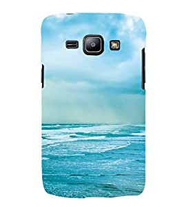 Sea Hard Polycarbonate Designer Back Case Cover for Samsung Galaxy J1 (2015) :: Samsung Galaxy J1 4G (2015) :: Samsung Galaxy J1 4G Duos :: Samsung Galaxy J1 J100F J100Fn J100H J100H/Dd J100H/Ds J100M J100Mu