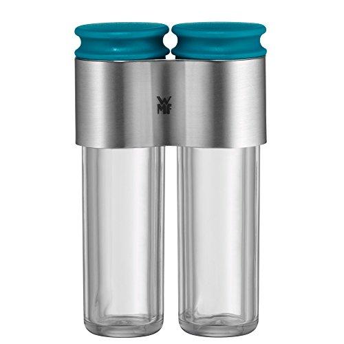 WMF Salz und Pfefferstreuer Set, Hello Functionals für unterwegs, unbefüllt, kompakt verbunden durch Edelstahlform ideal zum Picknicken