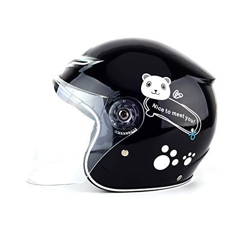 Tianxiu Casco Moto Bambini, Casco Multi-Sportivo Casco,casco regolabile Proteggi la testa dallo shock Proteggi la testa dallo shock(3-8 Anni)