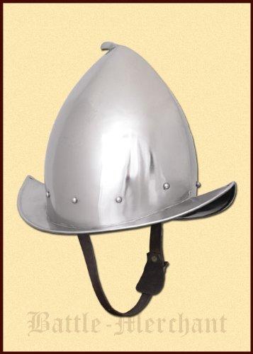 Landsknechts Des Kostüm - Battle-Merchant Spitzer Morion Helm mit Lederinlet - Pappenheimer - Landsknecht