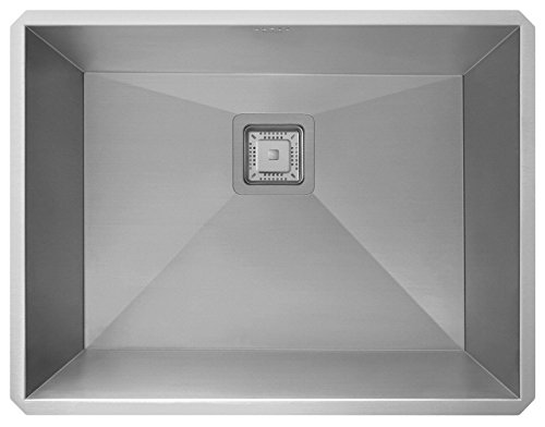 KRAUS KHU24L-EUO Rectangle 610mm x 470mm Pax™ Zero-Radius Handmade Undermount Stainless Steel Single Bowl Laundry and Utility Sink w/ Waste