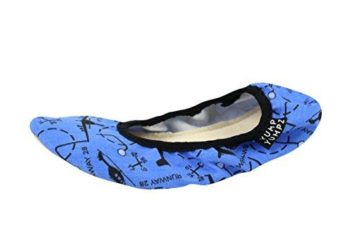 TOLLKÜHNER PILOT #12 blau - Gymnastikschuhe aus Baumwolle -YUMP YUMPZ- Turnschläppchen / Saalturnschuhe / Ballettschuhe / Flats – in (Kinder Pilot Kleid Für)