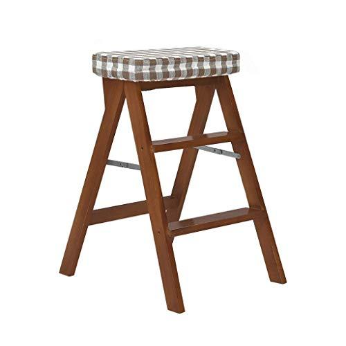 Oudan Leiter Hocker Trittleiter 3 Tier for Kinder Erwachsene Sitzbank for Bibliothek Home Küche Holzklapp (Farbe : Eine Farbe, Größe : EINHEITSGRÖSSE) -