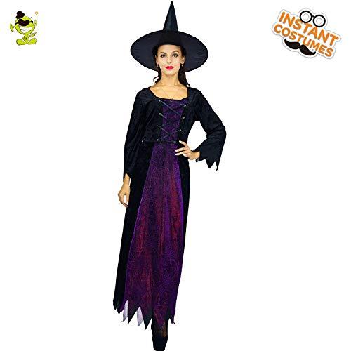 AA Die neue Dame Fortune Witch Purple Fashion Kostüm for Halloween Masquerade Girls SD (Color : Onecolor, Size : - Masquerade Witch Für Erwachsene Kostüm Damen